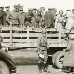 Linnoitustyö 1939: auto lähtee