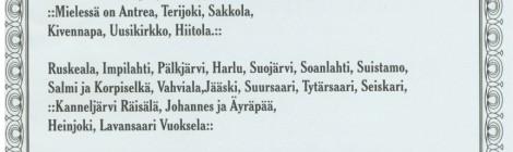 Kauneimmat laulut Karjalasta 26.10.